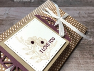 Create a simple gift pillow box using Beautiful Promenade - Mary Fish StampinUp