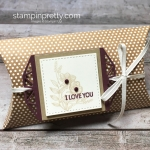 Create a simple gift pillow box using Beautiful Promenade - Mary Fish StampinUp Idea