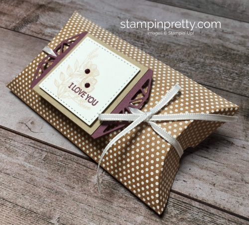 Create a simple gift pillow box using Beautiful Promenade - Mary Fish StampinUp Ideas
