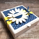 Create a simple pizza box and 3 x 3 cards using Stampin Up Itty Bitty Greetings - StampinUp Mary Fish