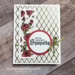 Graceful Glass Vellum Sympathy Card