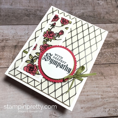 Create a simple sympathy card using Stampin Up Painted Glass - Mary Fish StampinUp Idea