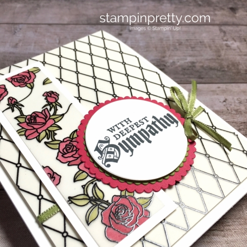 Create a simple sympathy card using Stampin Up Painted Glass - Mary Fish StampinUp Ideas