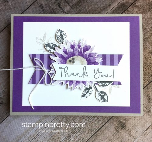 Create a simple thank you card using Stampin Up Painted Harvest - Mary Fish StampinUp Idea