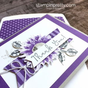 Create a simple thank you card using Stampin Up Painted Harvest - Mary Fish StampinUp Ideas