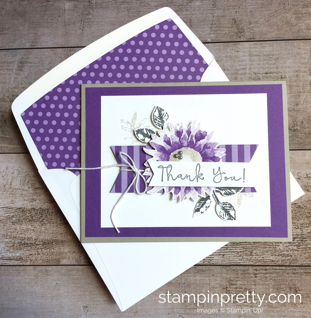 Create a simple thank you card using Stampin Up Painted Harvest - Mary Fish StampinUp