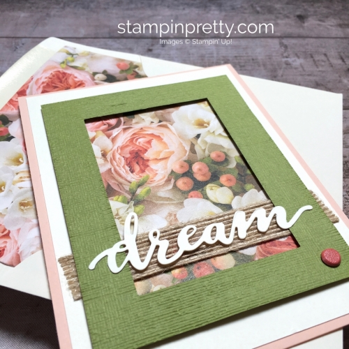 Create a simple wedding card using Stampin Up Petal Promenade Designer Series Paper - Mary Fish StampinUp birthday card