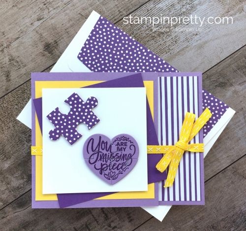 Create a Stampin Up Love You to Pieces puzzle card - Mary Fish StampinUp Ideas