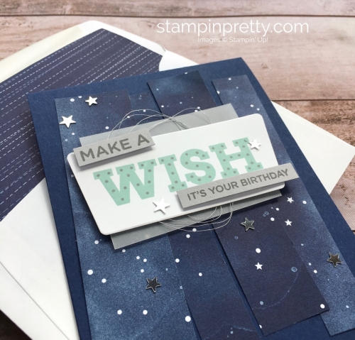 Create a simple birthday card using Stampin Up Broadway Birthday stamp set - Mary Fish StampinUp