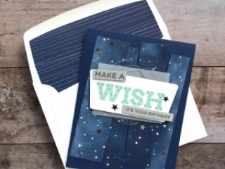 Create a simple birthday card using Stampin Up Broadway Birthday stamp set - Mary Fish StampinUp Idea