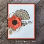 Create a simple birthday card with Vases Builder Punch flower - Mary Fish StampinUp