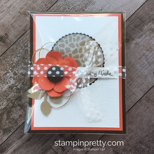 Create a simple birthday card with Vases Builder Punch flower - Mary Fish StampinUp Ideas