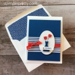 Create a simple fourth of july patriotic card using Stampin Up Varied Vase - Mary Fish