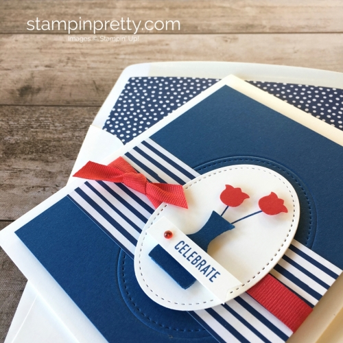 Create A Simple Fourth Of July Patriotic Card Using Stampin Up Varied Vases