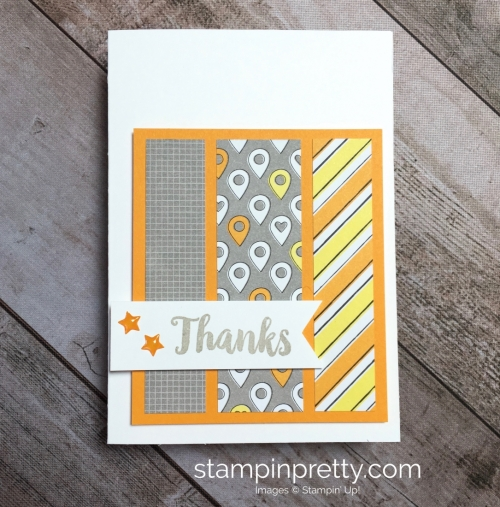 Create a simple masculine card with Stampin Up Best Route - Mary Fish StampinUp