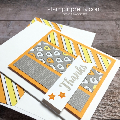 Create a simple masculine card with Stampin Up Best Route - Mary Fish StampinUp Idea