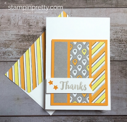 Create a simple masculine card with Stampin Up Best Route - Mary Fish StampinUp Ideas