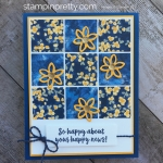 Create a simple sampler card using Stampin up Garden Impressions Designer Series Paper - Images © StampinUp