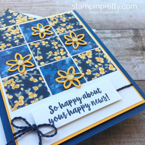 Create a simple sampler card using Stampin up Garden Impressions Designer Series Paper - Images © StampinUp Idea