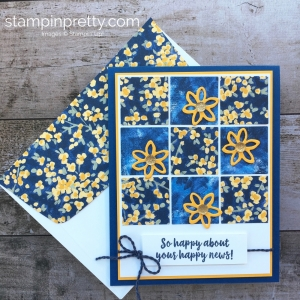 Create a simple sampler card using Stampin up Garden Impressions Designer Series Paper - Images © StampinUp Ideas