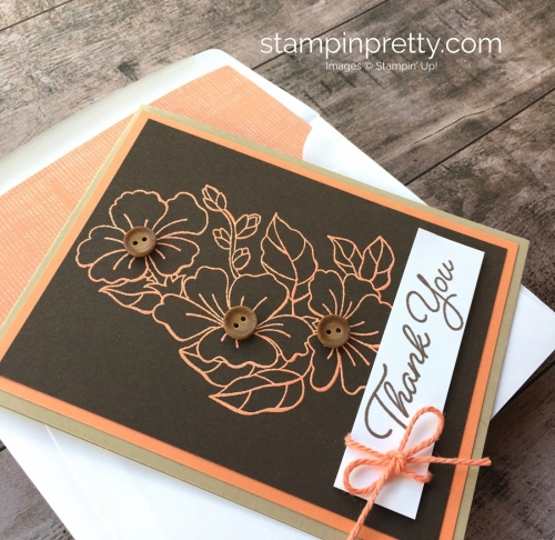 Create a simple thank you card using Stampin Up Blended Seasons - Mary Fish StampinUp
