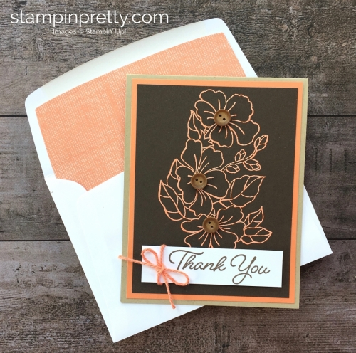 Create a simple thank you card using Stampin Up Blended Seasons - Mary Fish StampinUp Idea
