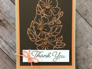 Create a simple thank you card using Stampin Up Blended Seasons - Mary Fish StampinUp Ideas