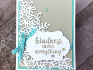 Create a simple thank you card with Stampin Up Abstract Impressions - Mary Fish StampinUp