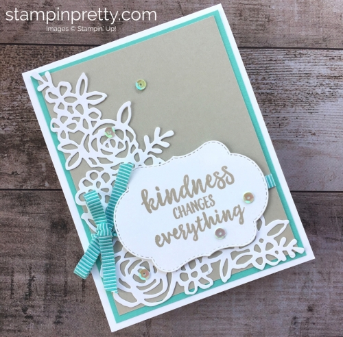 Create a simple thank you card with Stampin Up Abstract Impressions - Mary Fish StampinUp Idea