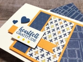 Create a simple thank you card with Stampin Up Best Route - Mary Fish StampinUp