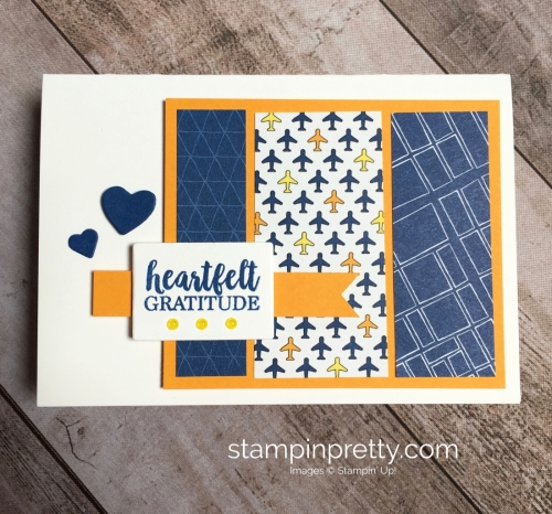 Create a simple thank you card with Stampin Up Best Route - Mary Fish StampinUp Idea