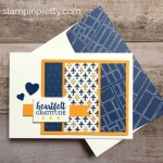 Create a simple thank you card with Stampin Up Best Route - Mary Fish StampinUp Ideas
