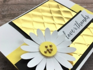 Create a simple thank you card with Stampin Up Daisy Punch - Mary Fish StampinUp Idea