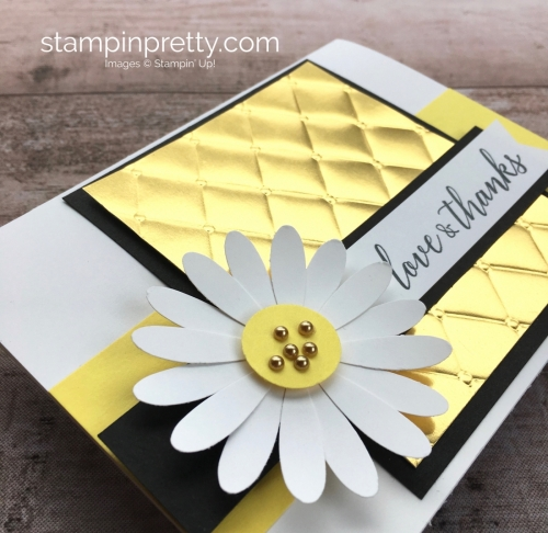 Create a simple thank you card with Stampin Up Daisy Punch - Mary Fish StampinUp