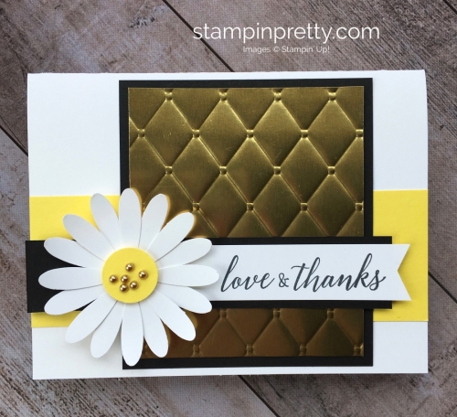 Create a simple thank you card with Stampin Up Daisy Punch - Mary Fish StampinUp Ideas