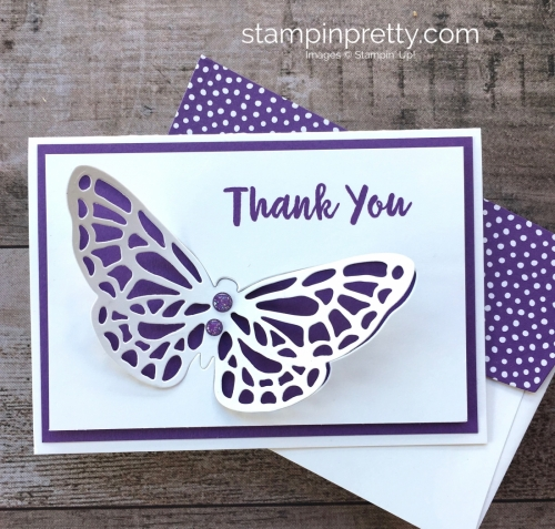 Create a simple thank you card with Stampin Up Springtime Impressions - Mary Fish StampinUp