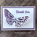 Create a simple thank you note card using Stampin Up Springtime Impressions butterfly - Mary Fish StampinUp