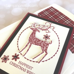 Create a Christmas card using Stampin Up Dashing Deer & Detail Deer Thinlits Dies - Mary Fish StampinUp