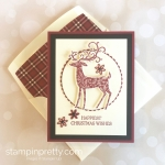 Create a Christmas card using Stampin Up Dashing Deer & Detail Deer Thinlits Dies - Mary Fish StampinUp Idea