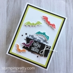 Create a Halloween card with Stampin Up Spooky Sweets Bat Punch - Mary Fish StampinUp Idea