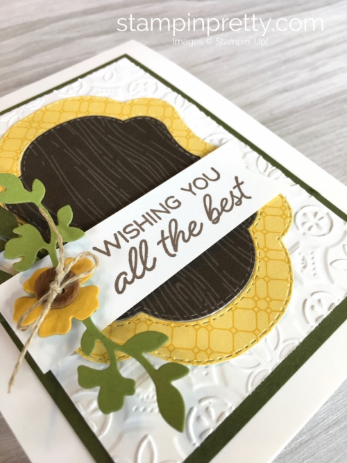 Create a card using Stampin Up Stitched Seasons Framelits & Blended Seasons stamp set - Mary Fish StampinUp
