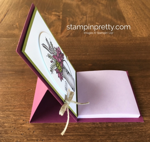 Create a simple easel post-it holder using Stampin Up Country Road - Mary Fish StampinUp