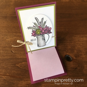 Create a simple easel post-it holder using Stampin Up Country Road - Mary Fish StampinUp Idea