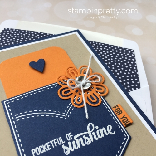 Create a simple gift card holding using Stampin Up Pocketful of Sunshine & Pocket Framelits - Mary Fish StampinUp Ideas