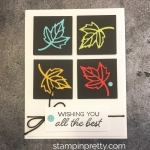 Create a simple leaf card using Stampin Up Blended Seasons Stamp Set & Stitched Seasons Dies - Mary Fish StampinUp Ideas