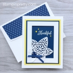 Create a simple thank you card using Stampin Up Falling Leaves & Detailed Leaves Thinlits Dies - Mary Fish StampinUp Idea