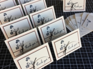Create a simple thank you card using Stampin Up Love What You Do and Stamparatus - Mary Fish StampinUp mass produce