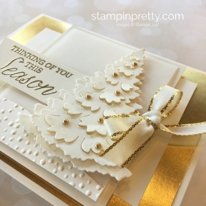 Create a winter holiday Christmas card with Stampin Up
