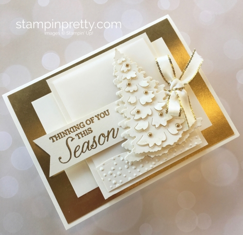 Create a winter holiday Christmas card with Stampin Up Idea