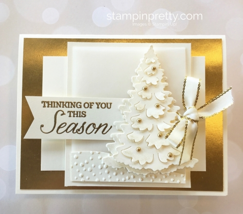 Create a winter holiday Christmas card with Stampin Up Ideas